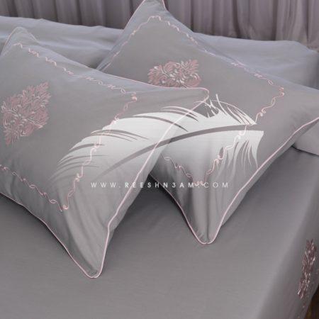 طقم سرير مزخرف بخيوط الحرير