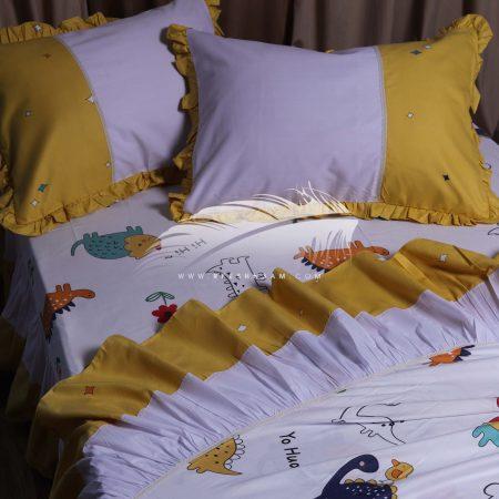 طقم سرير اطفال مطبوع كورنيش