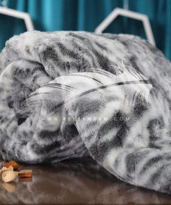 بطانية فرو بألوان جذابة