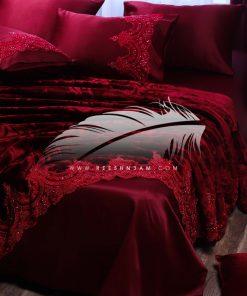 بطانية مفرش مع كنار من الهاند ميد