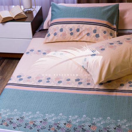 طقم سرير مطبوع قطن ستان