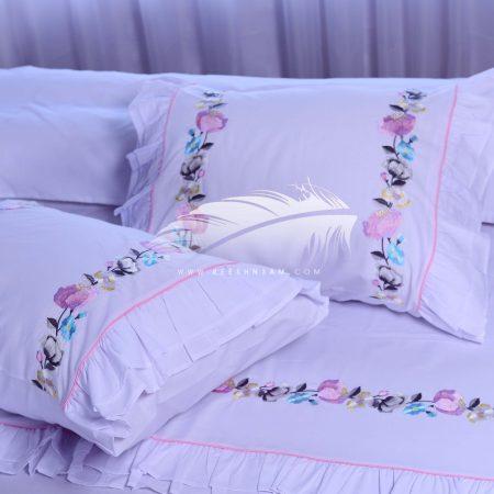طقم سرير قطن مطرز