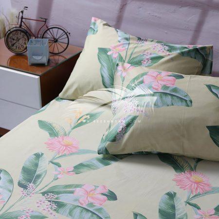 طقم سرير قطن ستان بألوان زاهية
