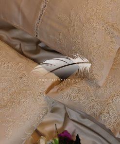 طقم سرير قطن ستان × مفرش صيفي شانيليا×قطيفة مطرز بالجوبير