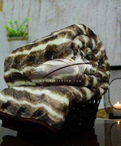 بطانية عالية التدفئة أكريلك مع فرو كثيف و ناعم